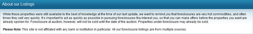 About our Listings